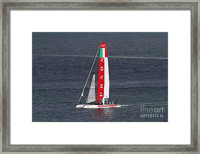 America's Cup In San Francisco - Italy Luna Rossa Paranha Sailboat - 7d19041 Framed Print by Wingsdomain Art and Photography