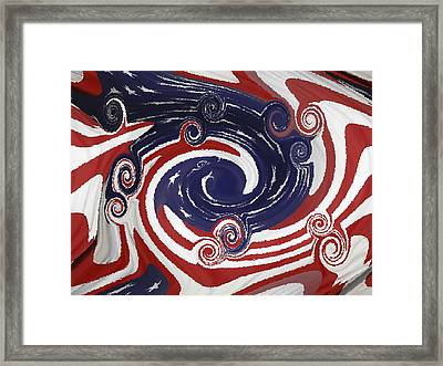 Americas Palette Framed Print by DigiArt Diaries by Vicky B Fuller