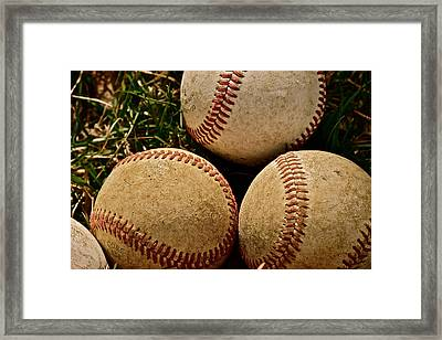 America's Pastime Framed Print by Bill Owen