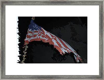 Americas Spirit Lives Framed Print by Gloria Warren
