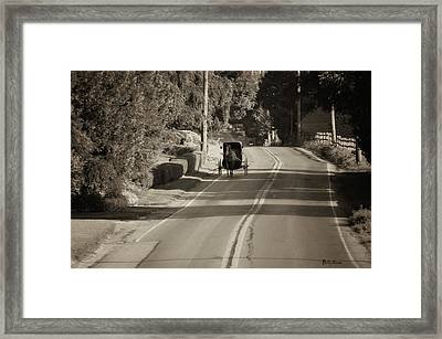 Amish Buggy - Lancaster County Pa Framed Print by Bill Cannon