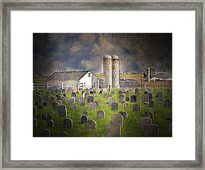 Amish Grave Yard Framed Print by Kathy Jennings