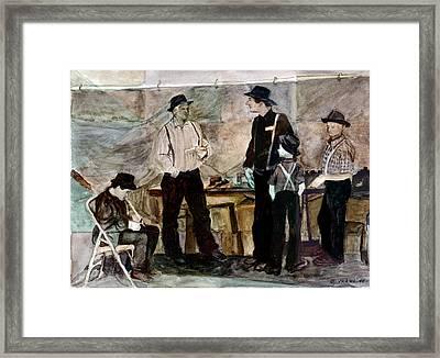 Amish Market Framed Print by Ethel Vrana