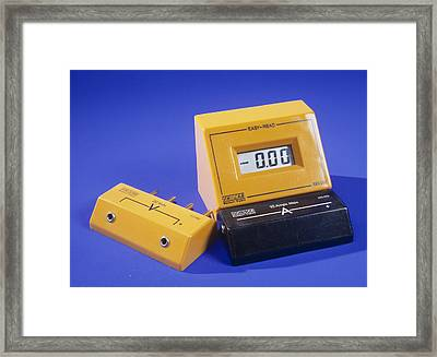 Ammeter And Voltage Multiplier Framed Print by Andrew Lambert Photography