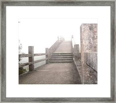 Among The Clouds Framed Print by Jonathan Lagace