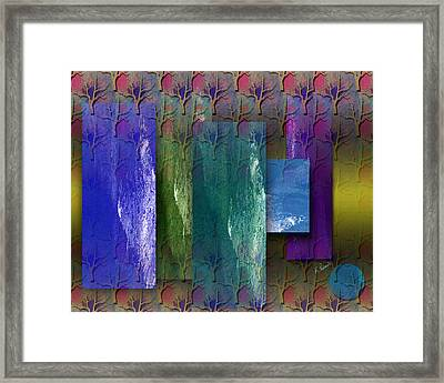 Among The Trees Framed Print by Ruth Palmer