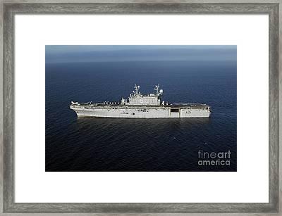 Amphibious Assault Ship Uss Peleliu Framed Print by Stocktrek Images