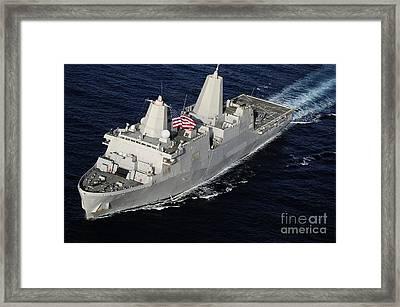 Amphibious Transport Dock Ship Uss San Framed Print by Stocktrek Images