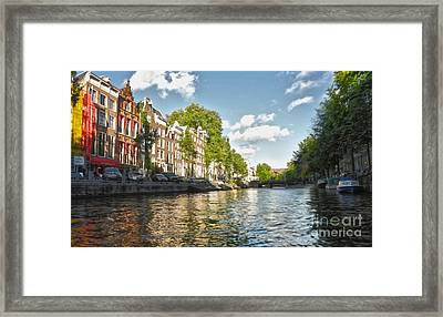 Amsterdam Canal Framed Print by Gregory Dyer