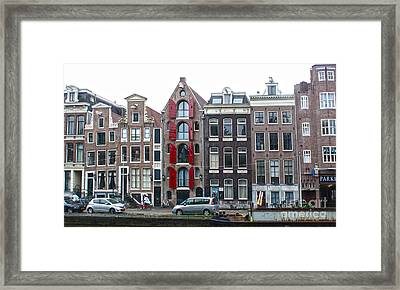 Amsterdam Canal Houses Framed Print by Gregory Dyer