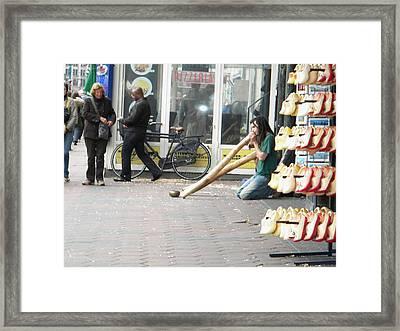 Amsterdam Street View Framed Print by Manuela Constantin