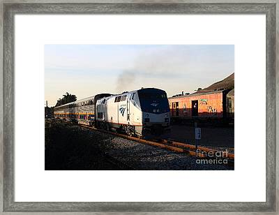 Amtrak Trains At The Niles Canyon Railway In Historic Niles District California . 7d10857 Framed Print by Wingsdomain Art and Photography
