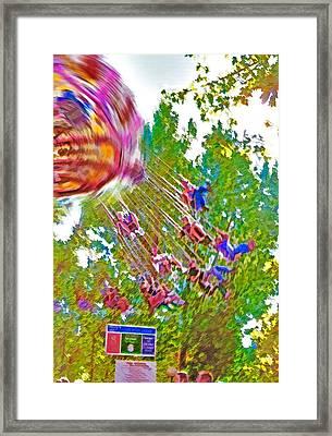 Amusement Park Ride 2 Framed Print by Steve Ohlsen