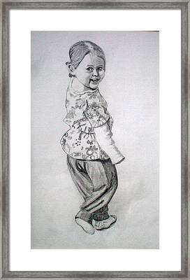 Amy Framed Print by Peter Edward Green
