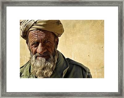 An Afghan Elder From Zabul Province Framed Print by Stocktrek Images