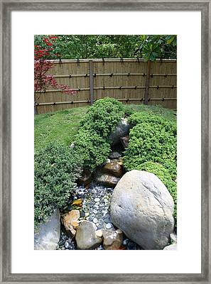 An Afternoon In A Japanese Garden Framed Print by Nina Fosdick