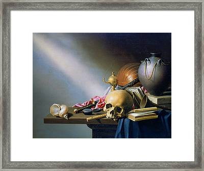 'an Allegory Of The Vanities Of Human Life' By Harmen Steenwych Framed Print by Photos.com