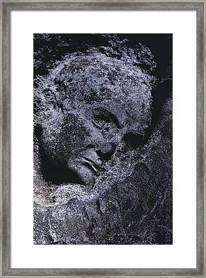 An Ancient Statues Image Is Preserved Framed Print by O. Louis Mazzatenta