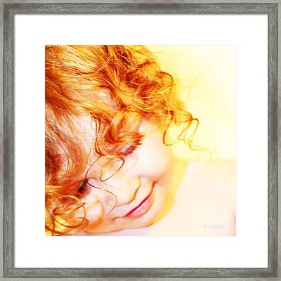 An Angels Smile Framed Print by Kerri Ligatich