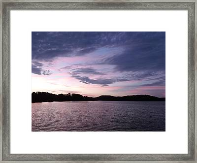 An Artwork Sky  Framed Print by Brian  Maloney