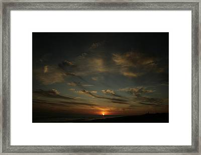 An Atlantic Sunset Framed Print by Christopher Kirby