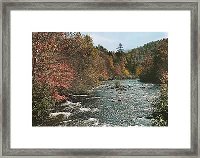 An Autumn Scene Along Little River Framed Print by J. Baylor Roberts