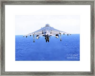 An Av-8b Harrier Jet Launches Framed Print by Stocktrek Images