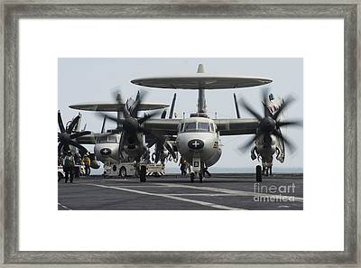 An E-2c Hawkeye Aircraft On The Flight Framed Print by Stocktrek Images