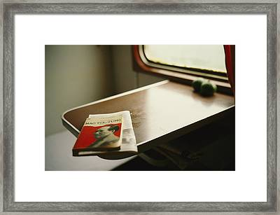 An English Version Of A Biography Framed Print by Justin Guariglia