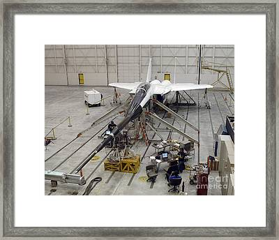 An F-15b Testbed Aircraft Undergoes Framed Print by Stocktrek Images