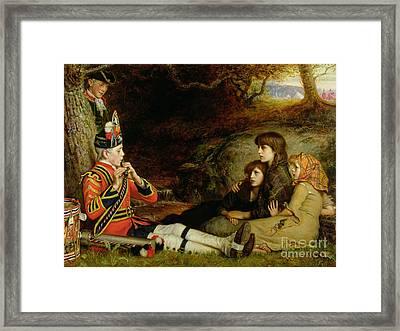 An Idyll  Framed Print by Sir John Everett Millais