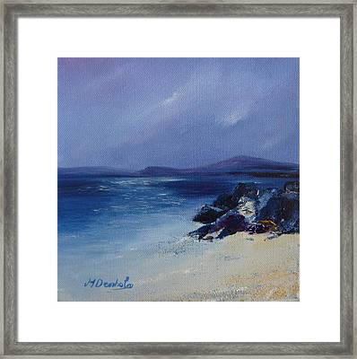 An Iona Beach Framed Print by Margaret Denholm