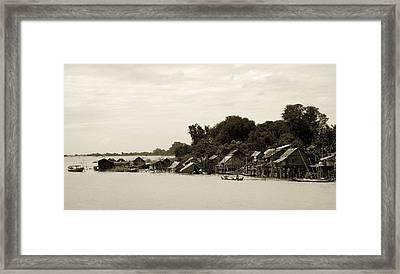 An Island Village On River Irrawaddy Framed Print by RicardMN Photography
