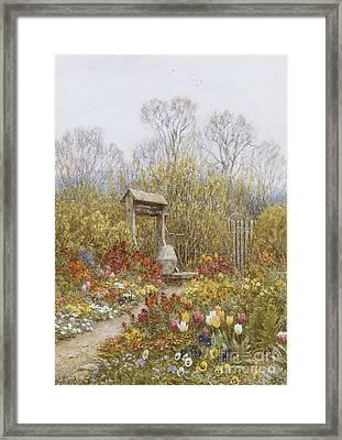 An Old Well Brook Surrey Framed Print by Helen Allingham