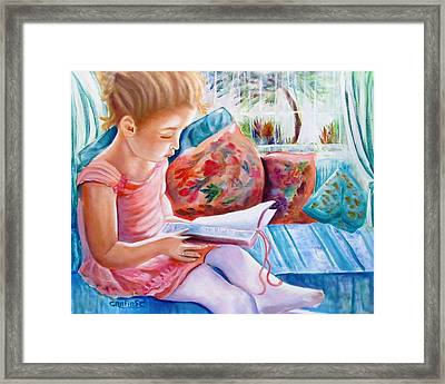 An Open Book Framed Print by Carol Allen Anfinsen