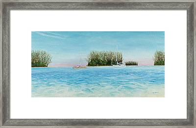 Anchorage At Crystal Bay Framed Print by Kevin Brant