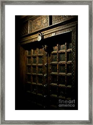Ancient Door Framed Print by Mike Reid