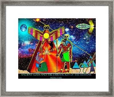 Ancient Gods Framed Print by Myztico Campo