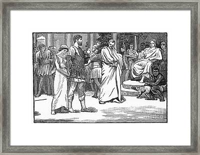 Ancient Rome: Divorce Framed Print by Granger