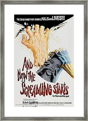 And Now The Screaming Starts, Pictured Framed Print by Everett