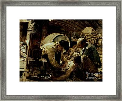 And They Still Say Fish Is Expensive Framed Print by Joaquin Sorolla y Bastida