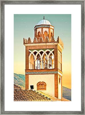 Andalucian Minaret Framed Print by Tom Gowanlock