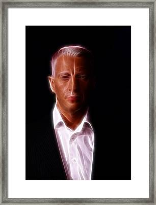 Anderson Cooper - Cnn - Anchor - News Framed Print by Lee Dos Santos