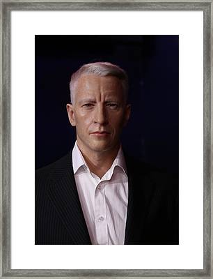 Anderson Hays Cooper - Cnn - Anchor - News Framed Print by Lee Dos Santos
