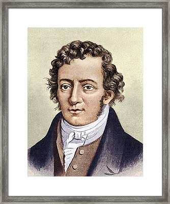 Andre-marie Ampere, French Physicist Framed Print by Sheila Terry