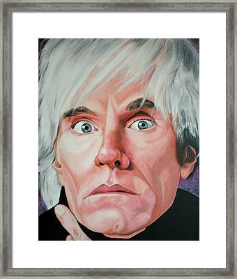 Andy Warhol Framed Print by Timothe Winstead
