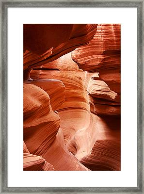 Anelope Canyon - What A Wonderful World Framed Print by Christine Till