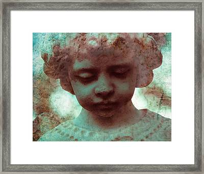 Angel Boy Framed Print by Sonja Quintero