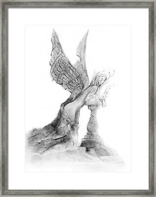 Angel Encantado Framed Print by Guillermo Padilla