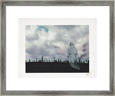 Angel Of The Mourning Framed Print by Lori  Secouler-Beaudry